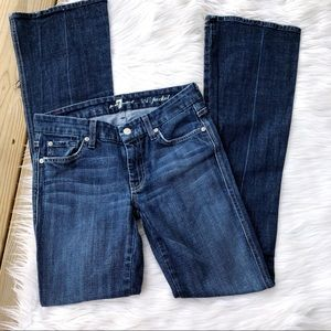 7 For All Mankind A Pocket Flare Dark Jeans